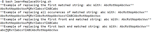 Bash Replace String - 1