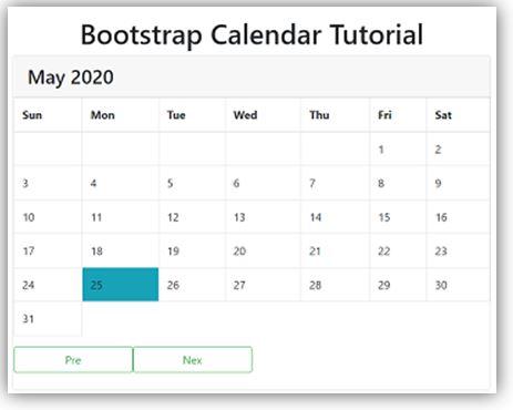 Bootstrap Calendar 1