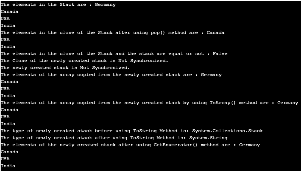 C# Stack -1.2