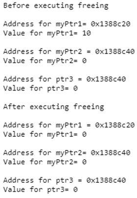C++ free() 1