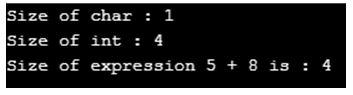 C++ sizeof() 1