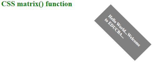 CSS Matrix Example 1