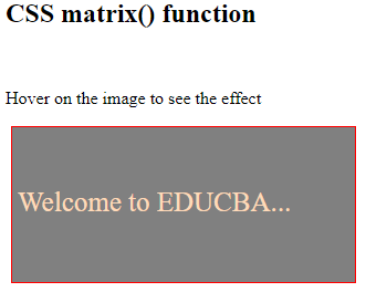 CSS Matrix Example 3