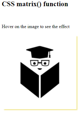 CSS Matrix Example 4
