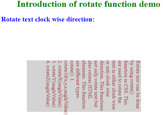 anti clock wise direction