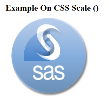 CSS Scale() Example 1