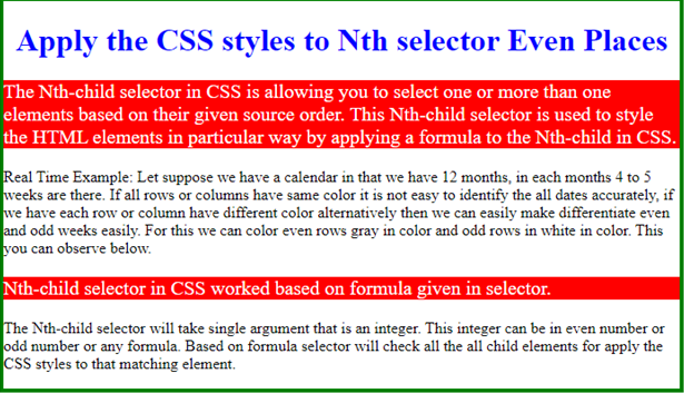 CSS Selector nth Child Example 2