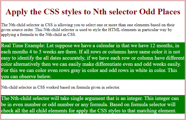 CSS Selector nth Child Example 3
