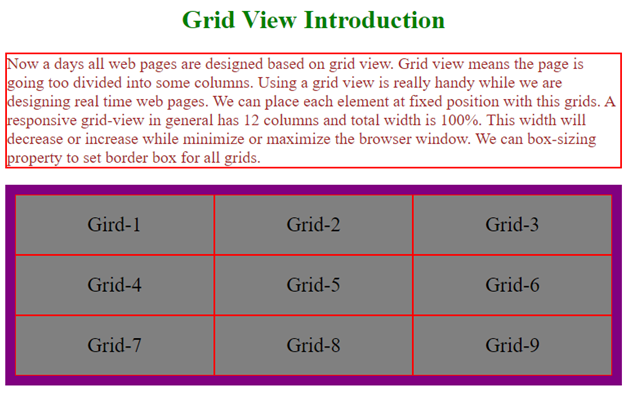 Gridview CSS Example 4