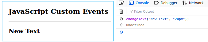 JavaScript Custom Events Example 1.2