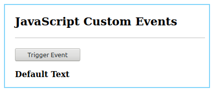 JavaScript Custom Events Example 2.1