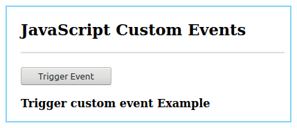 JavaScript Custom Events Example 2.2