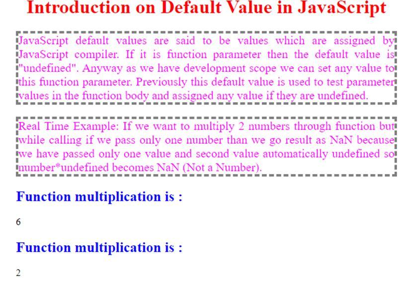 Multiplication function parameters