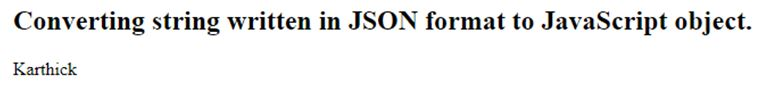 JavaScript Object Notation 2