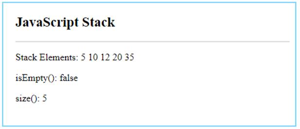 JavaScript Stack-3.1