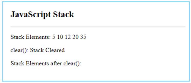 JavaScript Stack-6.1