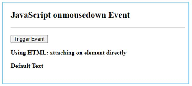 JavaScript mousedown 1