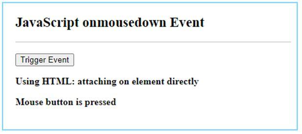 JavaScript mousedown 2