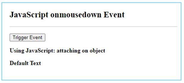 JavaScript mousedown 3