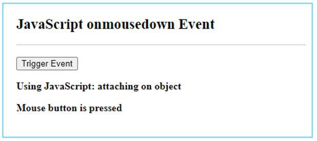 JavaScript mousedown 4