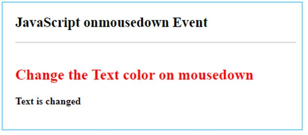 JavaScript mousedown 8