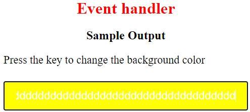 event handler