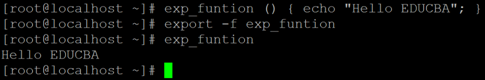 Linux Export Example 2A