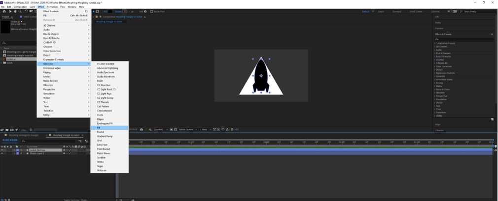 Morphing in After Effects - 11