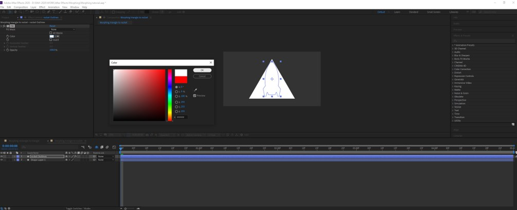 Morphing in After Effects - 12