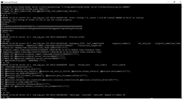 MySQL Binlog Example 3