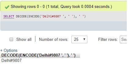MySQL DECODE()3