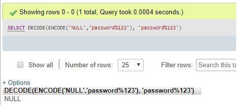 MySQL DECODE()4