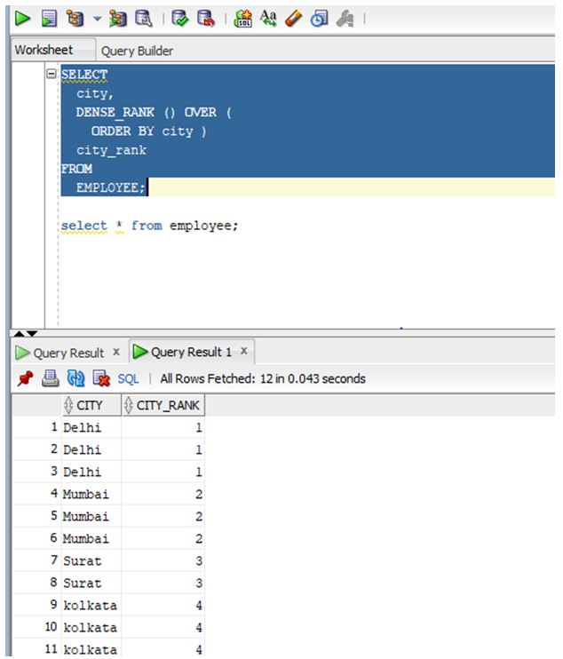 Oracle analytic functions 1