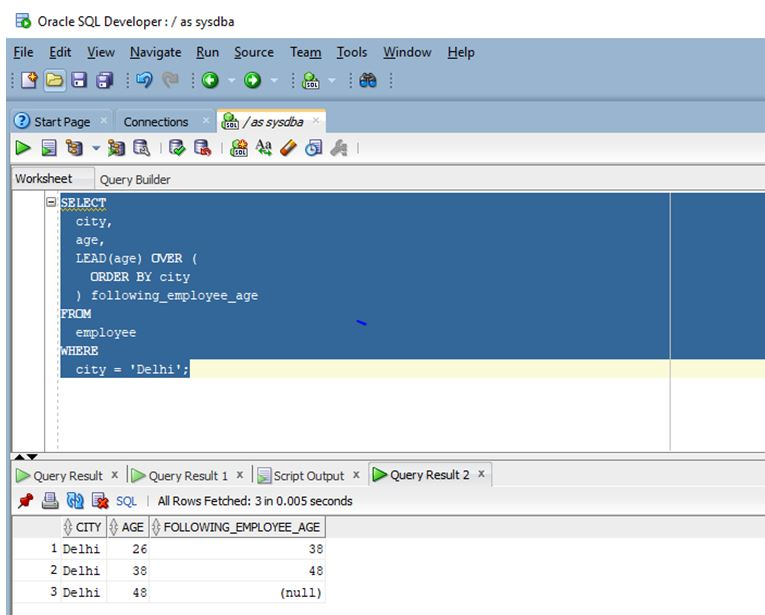 Oracle analytic functions 4