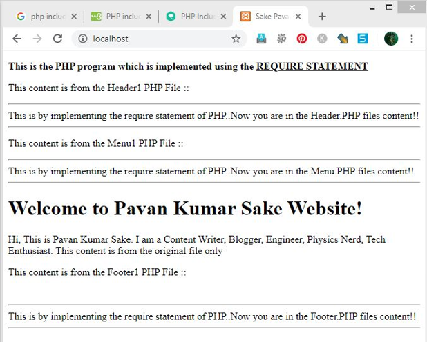 PHP Include and Require - 2