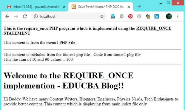PHP require_once - 2