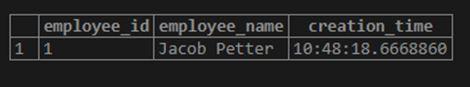 PostgreSQL CURRENT_TIME 5