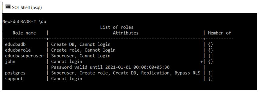 PostgreSQL Commands 12