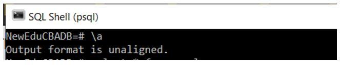 PostgreSQL Commands 20