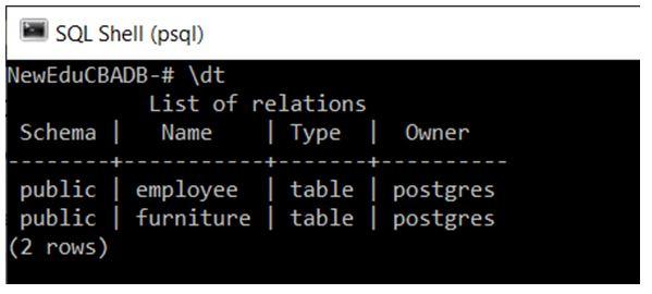 PostgreSQL Commands 7