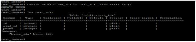 PostgreSQL Index Types1