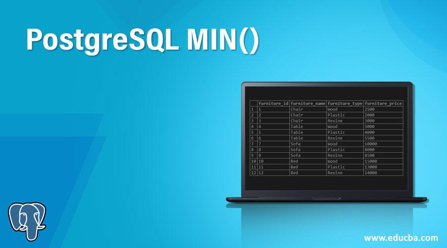 PostgreSQL MIN()