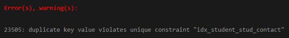 PostgreSQL UNIQUE Index Example 3
