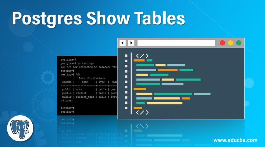 Postgres Show Tables