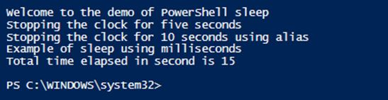 PowerShell Sleep 1