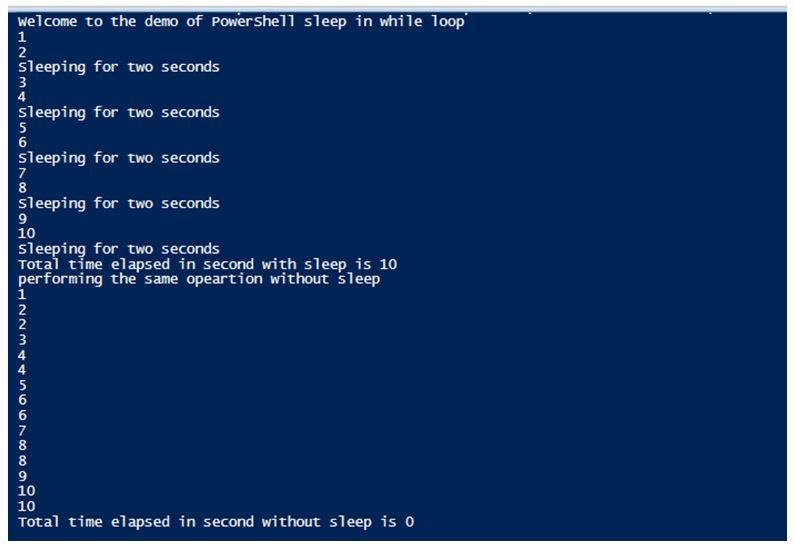 PowerShell Sleep 2