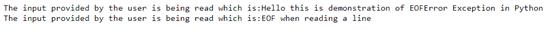 Python EOFError Example 2