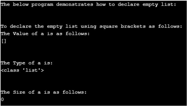 Python Empty List-1.1