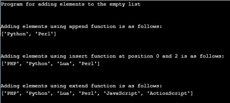Python Empty List-1.3