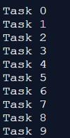 different tasks